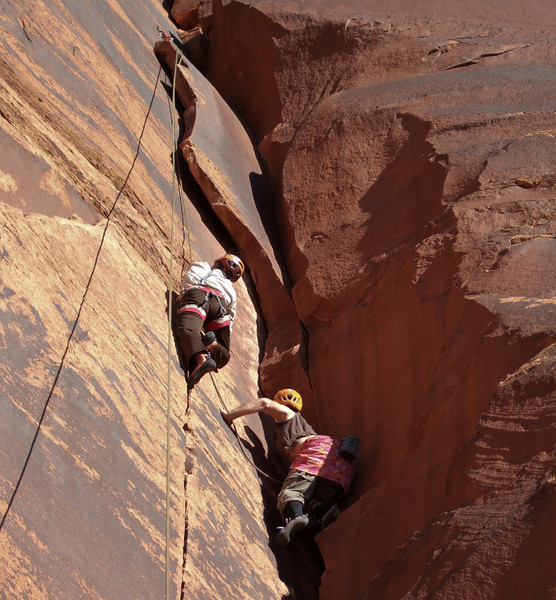 Moab, Utah and American Mountain Guides Association meetings October 30, 2009 to November 1, 2009 - The Transgender River Guide Nerd Alliance Team Chris Wright et al on top rope event