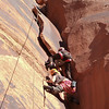 Moab, Utah and American Mountain Guides Association meetings October 30, 2009 to November 1, 2009 - The Transgender River Guide Nerd Alliance Team Chris Wright et al. on top rope event