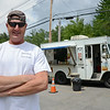 "Mike ""Murph"" Murphy's hot dog stand at the Bartlett Pond Conservation Area on Rt. 117 in Lancaster. Murphy has been working to keep the area around the pond clean. SENTINEL & ENTERPRISE / Ashley Green"