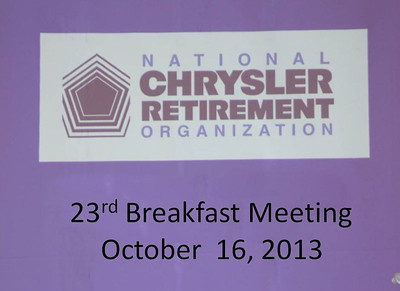 NCRO Meeting 2013 10 16