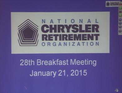 NCRO Meeting January 21, 2015