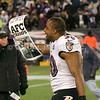 20 January 2013.  Ravens Linebacker Albert McClellan (50) walks off the field following the game.  The Baltimore Ravens defeated the New England Patriots 28 to 13 in the AFC Championship Game in Gillette Stadium in Foxboro, Massachusetts. <br /> (c) Tom Croke/Visual Image Inc.