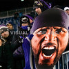 20 January 2013.  Ravens fans at celebrate at Gillette Stadium postgame.  The Baltimore Ravens defeated the New England Patriots 28 to 13 in the AFC Championship Game in Gillette Stadium in Foxboro, Massachusetts. (c) Tom Croke/Visual Image Inc.