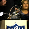 22 January 2012.   The Lamar Hunt Trophy, won by the New England Patriots. The New England Patriots defeated the Baltimore Ravens 23 to 20 in the AFC Championship game.  The game was played in Gillette Stadium, Foxboro, Massachusetts. <br /> (c) Tom Croke/Visual Image Inc.