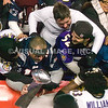 20 January 2013.  Fans celebrate the Baltimore win with Guard Bobbie Williams following the game.  The Baltimore Ravens defeated the New England Patriots 28 to 13 in the AFC Championship Game in Gillette Stadium in Foxboro, Massachusetts. <br /> (c) Tom Croke/Visual Image Inc.