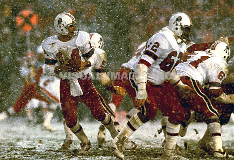 Steve Grogan/New England Patriots - Snow Game