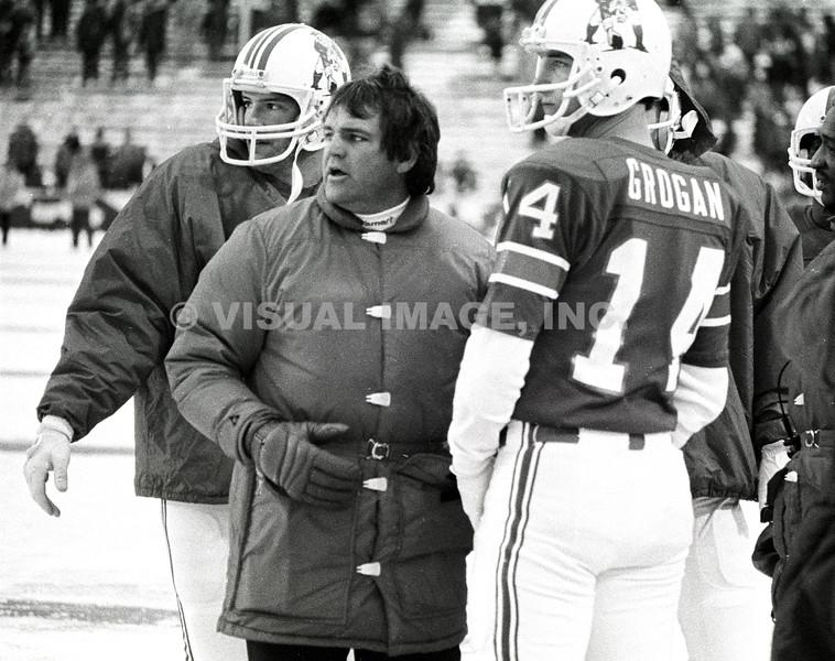 Coach Ron Meyer/ Matt Cavanaugh/Steve Grogan - New England Patriots