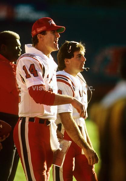 Steve Grogan and Doug Flutie - New England Patriots