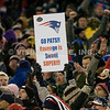 22 January 2012.  Patriot Fans during the fourth quarter.  The New England Patriots defeated the Baltimore Ravens 23 to 20 in the AFC Championship game.  The game was played in Gillette Stadium, Foxboro, Massachusetts. <br /> (c) Tom Croke/Visual Image Inc.