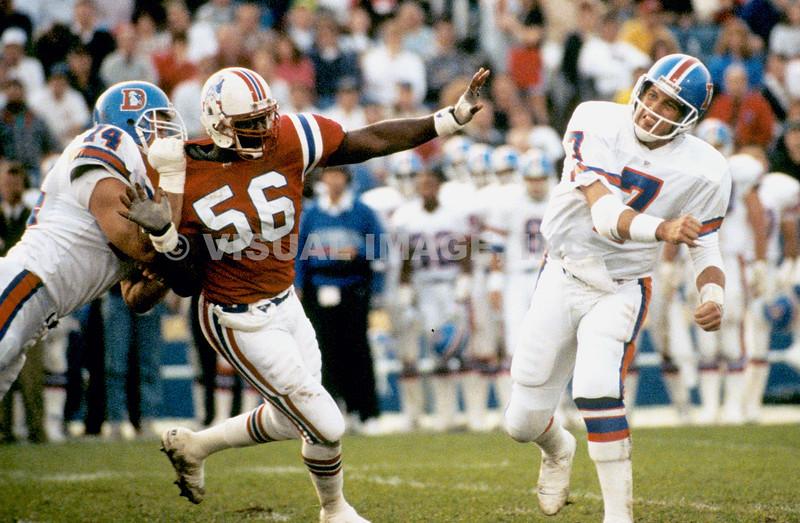 Andre Tippett - New England Patriots; John Elway - Denver Broncos