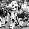 11-27-1983 - New Eng (3) @ NY Jets (26)<br /> #90 NE/DE - Toby Williams (r)<br /> #24 NY/RB - Freeman McNeil