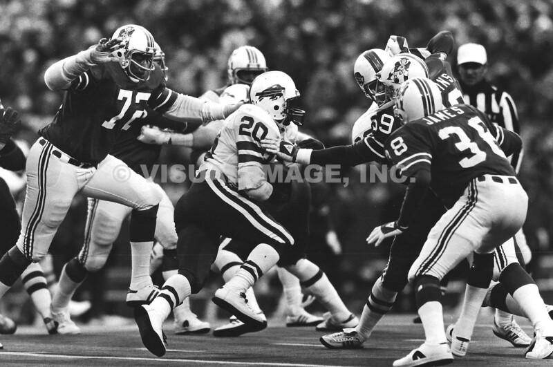 Joe Cribbs/Buffalo Bills; Mel Lunsford/New England Patriots