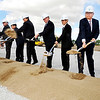 John P. Cleary |  The Herald Bulletin<br /> Executives from NTK Precision Axle Corp., along with city and state dignitaries, broke ground Wednesday for a $98 million, 300,000 square-foot manufacturing facility in Anderson.