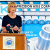 John P. Cleary |  The Herald Bulletin<br /> Indiana Lt. Governor Suzanne Crouch speaks on behalf of the state during the<br /> NTK Precision Axle groundbreaking ceremony Wednesday in Anderson.