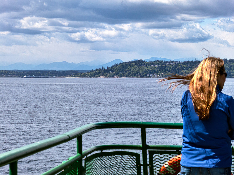 Approaching Kiongston Harbor, Olympic Mountains in background
