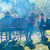 Cooking steaks and salmon for the Washington Outfitter & Guides Association fundraising barbeque
