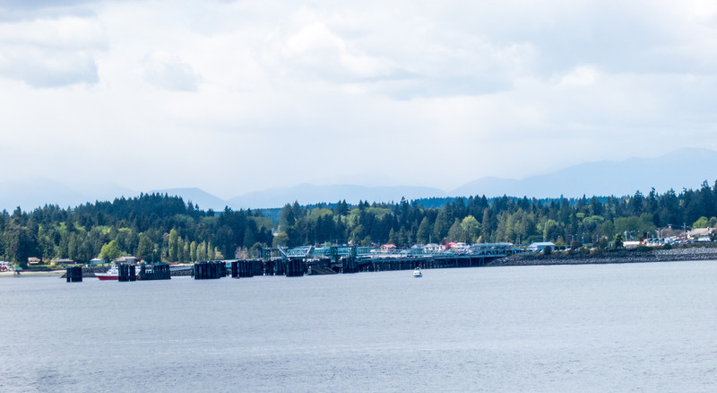 Port of Kingston with the Olympic Mountains in the background