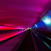 Detroit airport tunnel (mutli-media, constantly changing colors, textures & light with thunder & lightning sound effects!)
