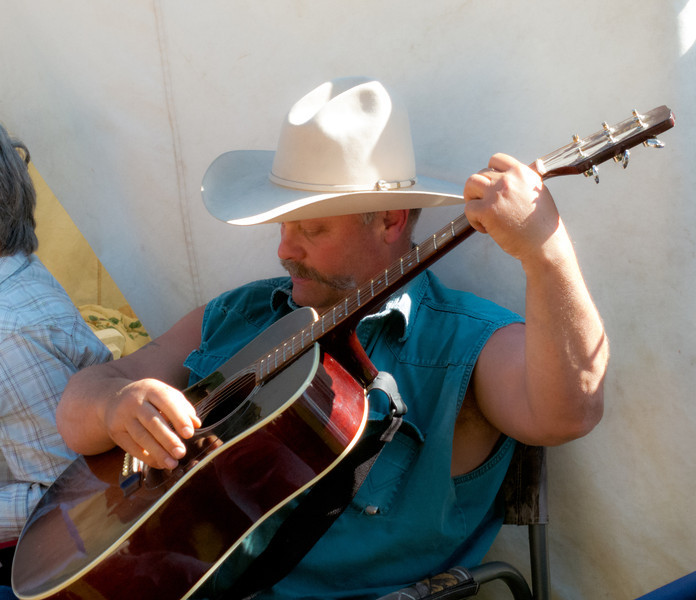 Cowboy folk singer Johnson at 49er Days Festival