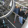 A new bike shop called Tomten Biketown just opened up in Leominster on Central Street. Owner Nate Jones and Manager Daren Smith in the new shop on Tuesday morning. SENTINEL & ENTERPRISE/JOHN LOVE