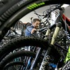 A new bike shop called Tomten Biketown just opened up in Leominster on Central Street. Owner Nate Jones in the new shop on Tuesday morning. SENTINEL & ENTERPRISE/JOHN LOVE