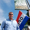 Kayla Rice/Reformer                           <br /> Newfane Market's new owner, Justin Fitzpatrick stands in front of the store, Thursday morning.
