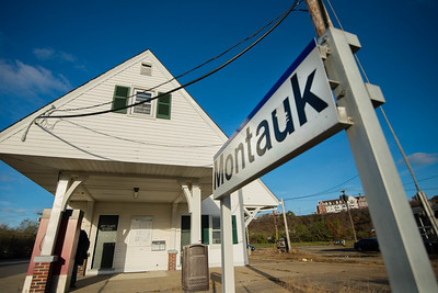 Long Island Railroad; Montauk; Montauk Train Station; NY  End of the line (c) Jennifer Heffner Photography