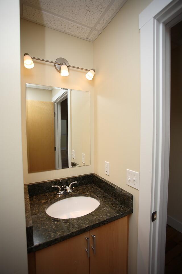 North Dam Mill apartments - Bathroom sink.