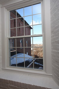North Dam Mill apartments - View from living room.