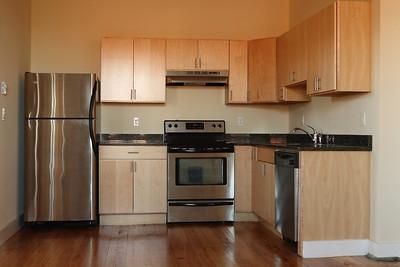 North Dam Mill apartments - Kitchen