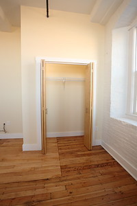North Dam Mill apartments - Closet in master bedroom.