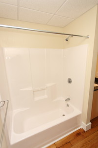 North Dam Mill apartments - Shower.