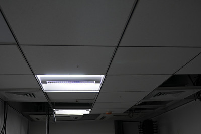 Ceiling in Server room that is a) low and b) has the cassette units installed in the wrong spot.  They will be relocated.