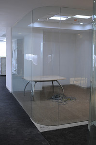 View of North Huddle Room from Main Cooridor