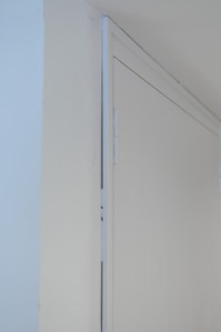 Poorly finished door frame to AHU room