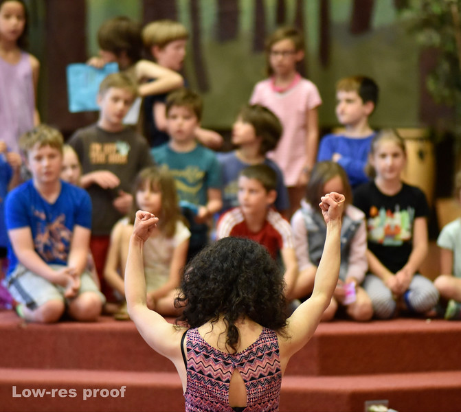 """Oregon Humanities Magazine - Jana and Mic Crenshaw work with 3rd graders at Sunnyside Environmental School rehearsing a play about the Portland history and themes of race equality Wednesday 5/18/17. © 2017 Fred Joe /  <a href=""""http://www.fredjoephoto.com"""">http://www.fredjoephoto.com</a>"""