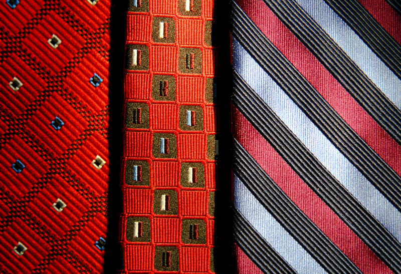 Background of men's ties.