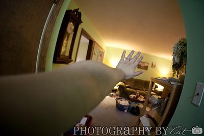 using the fisheye to make my arm look very long