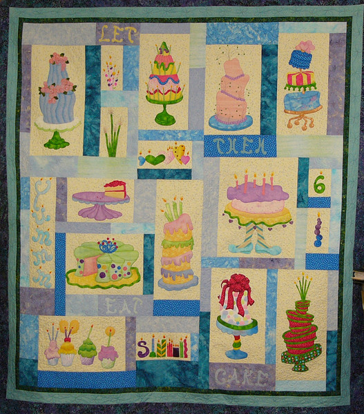 Let Them Eat Cake with Corinne Schroeder<br /> pattern, fabric, paints and class available