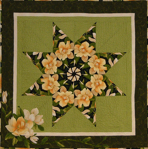 Magnolia by Corinne Schroeder<br /> fabric, book and class available