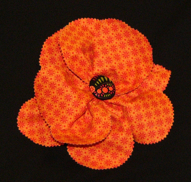 Make and take this large flower with Sue on Sept 24th from 2pm to 3pm.