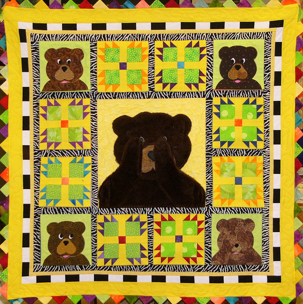 Bear Tale. Quilt pieced by Corinne Schroeder<br /> Pattern and fabric available