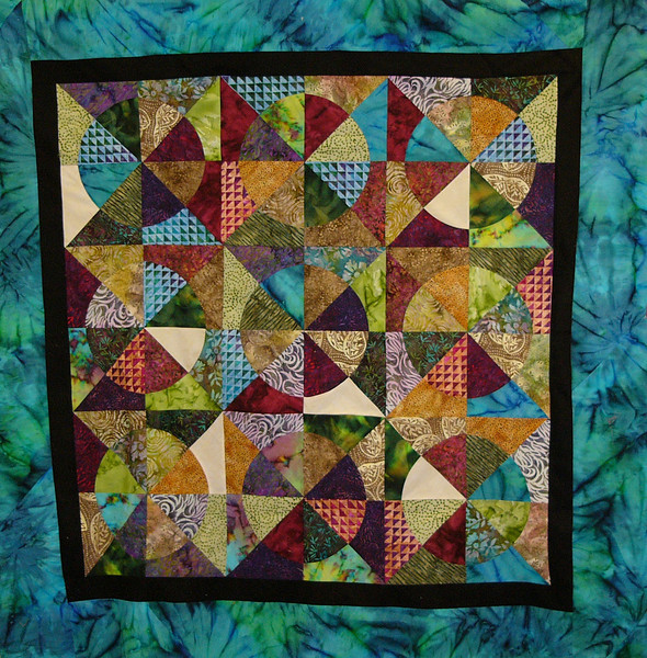 Serenity Circles by Jessica Griffin<br /> Pattern, template and class available.