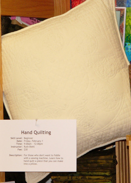 Hand quilting class with Ruth Biehl