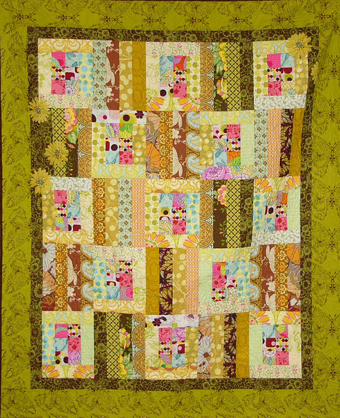 """Strip Cocktail using 2 1/2"""" strips by Corinne Schroeder<br /> pattern and fabrics available while supplies last"""
