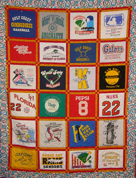 T-Shirt Quilt by Ruth Biehl<br /> Class available