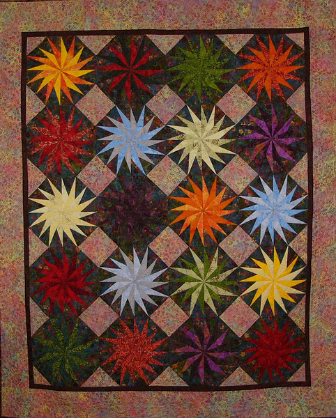 Spinning Stars quilt by Corinne Schroeder<br /> <br /> pattern and class available