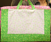 Sleep Over Bag by Corinne Schroeder<br /> unfolds into a quilt<br /> fabric,and pattern available
