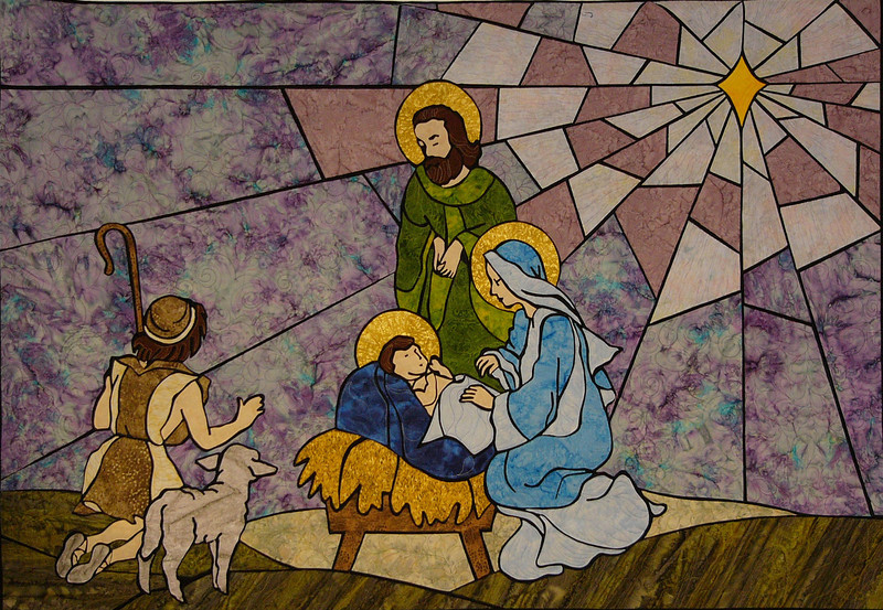 O Holy Night with Corinne Schroeder<br /> a stain glass technique class<br /> kits and book available