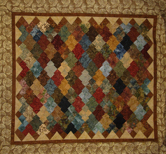 Charisma- a Boondoggle pattern<br /> Aimee's Winter bed quilt